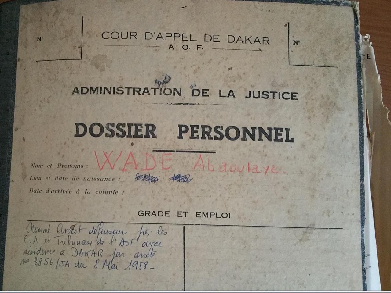 Le dossier d'Abdoulaye Wade, nommé avocat