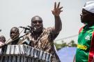 Zéphirin Diabré, candidat à la présidentielle burkinabè, lors d'une manifestation à Ouagadougou le 29 septembre 2018.