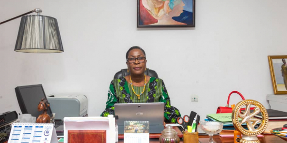 Makalé Traoré, candidate à l'élection présidentielle du 18 octobre 2020 en Guinée