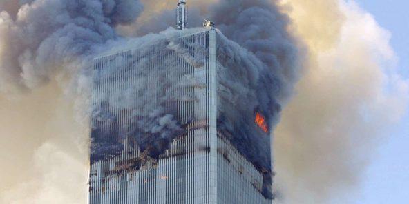 La tour nord du World Trade Center visée lors des attentats-suicides du 11-Septembre à New York, en 2001.