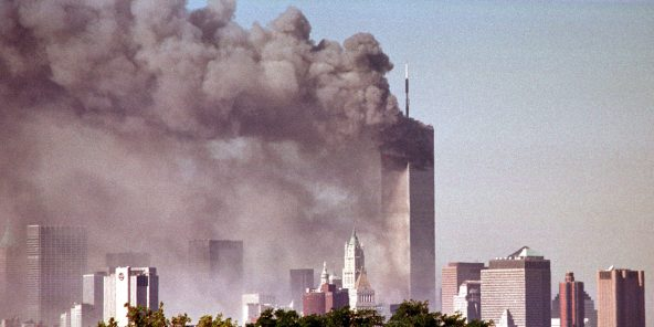 Les attentats-suicides du 11-Septembre à Manhattan, le 11 septembre 2001 à New York.