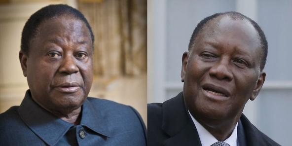 Henri Konan Bédié et Alassane Ouattara, candidats à la présidentielle d'octobre 2020.