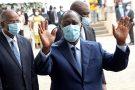 Alassane Ouattara lors du dépôt de sa candidature à la Commission électorale indépendante, le 24 août 2020, à Abidjan.