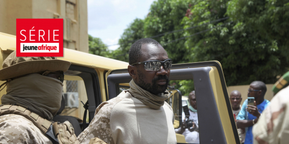 Le colonel Assimi Goïta devenu «chef de l'État» malien, le 24 août à Bamako.