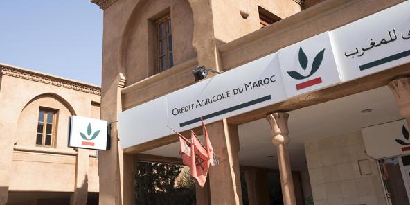 Crédit Agricole du Maroc à Marrakech en 2016.