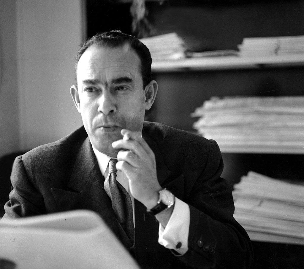 Mehdi Ben Barka, à Genève, en 1965.