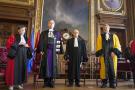 Cérémonie de distinction du président tunisien Béji Caid Essebssi à la Sorbonne, à Paris, en 2015.