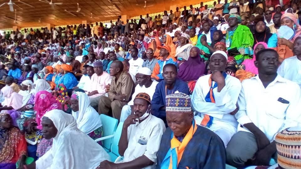 Lors du congrès du Moden Fa Lumana, le 19 septembre 2020 à Dosso, au Niger.
