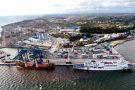 Le terminal à conteneurs d'Owendo, au Gabon, où s'étaient opposés Arise et Bolloré en 2017, avant de trouver un accord.