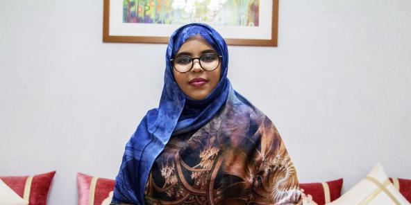 Portrait de  Saadani Mint Khaytour, Mauritanie le 17 septembre 2020 © Daouda Corera pour JA