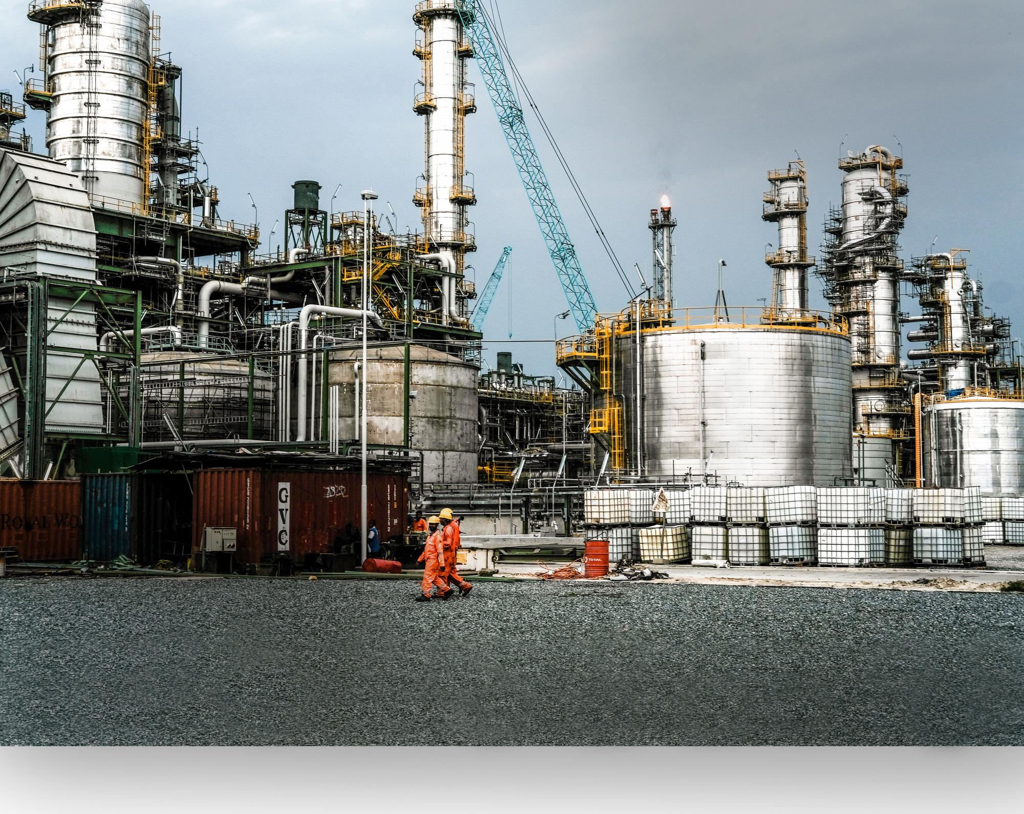Raffinerie de Lekki, en mars2020.