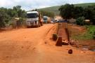 Travaux effectués par China Road and Bridge Corporation à Khouria, près de Coyah, au nord-est de Conakry, en septembre2020.