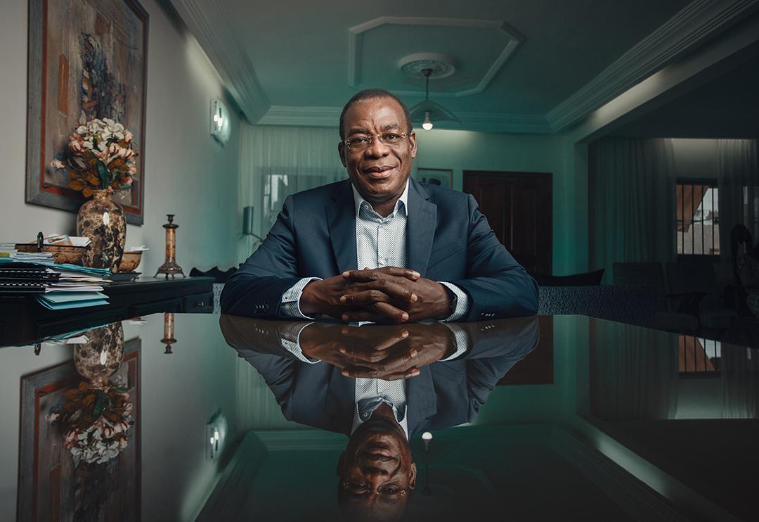 Pascal Affi N'guessan, à son domicile d'Abidjan, le 13 septembre 2019.