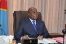 Félix Tshisekedi, dans son bureau, en septembre 2020.