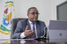 Vincent Biruta en entretien avec la rédaction de « Jeune Afrique », à Kigali, le 28 septembre 2020.