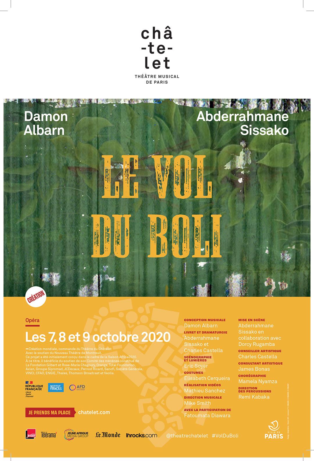 «Le Vol du boli» sera joué les 7, 8 et 9 octobre à 20 heures, au théâtre du Châtelet, à Paris. Une vingtaine de représentations suivront pour la saison 2021-2022.