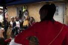 Lors d'une campagne de vacination contre Ebola, à Béni, en juillet 2019.