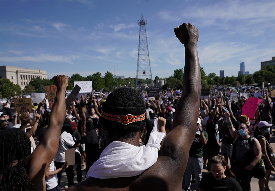 Manifestation de Black Lives Matter à Oklahoma City, aux États-Unis, le 31 mai 2020.