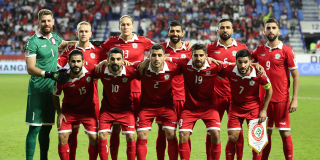 L'équipe nationale du Liban lors de l'AFC Asian Cup en 2019.