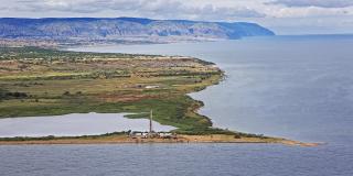 Le lac Albert, où Total et le chinois CNOOC ont racheté le projet initié par Tullow Oil.