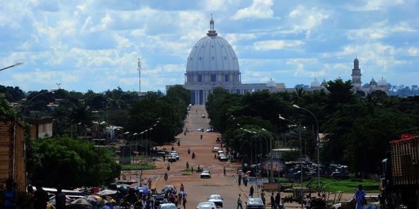 Basilique Notre-Dame-de-la-Paix, à Yamoussoukro