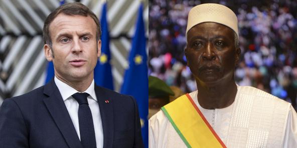Emmanuel Macron et Bah N'Daw (montage)