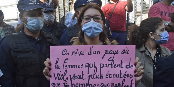 Marches against sexual violence took place on October 10 in Algiers, Béjaïa, Oran and Constantine, bringing together hundreds of demonstrators.
