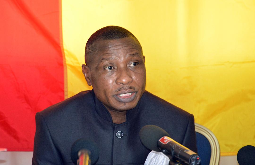 Dadis Camara en 2015 à Ouagadougou.