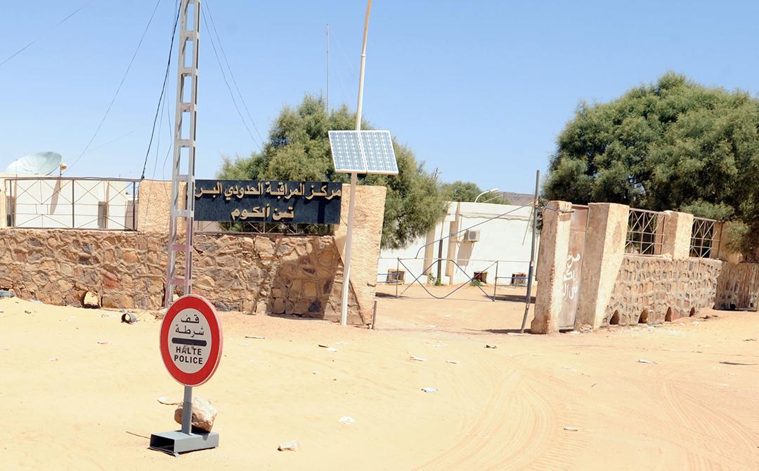 Poste-frontière libyen de Tinalkoum, à quelque 220 kilomètres au sud de Djanet, en 2011 (illustration).