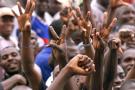 Lors d'une manifestation de partisans de Ouattara, en septembre 1999, lorsque la nationalité ivoirienne de ce dernier avait été remise en cause par les autorités de l'époque.
