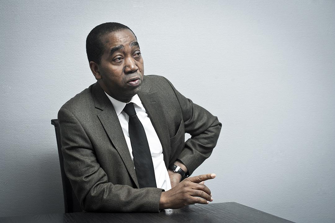 Rachid Ndiaye, ministre d'État et conseiller du président Alpha Condé, en janvier 2018 à Paris.