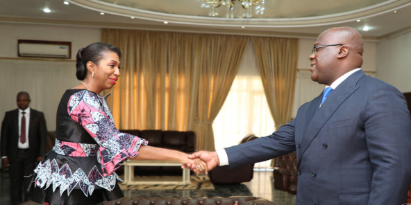 Felix Tshisekedi et Jeanine Mabunda, en 2019.