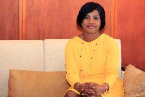 Secrétaire générale de la présidence de la République, Ablamba Sandra Johnson a rang de ministre. Ici à Lomé, le 31 mai 2019.