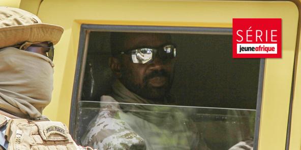 Le colonel Assimi Goïta, chef de la junte au pouvoir au Mali, le 24 août à Bamako avant une rencontre avec les représentants de la Cedeao.