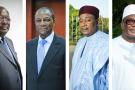 De gauche à droite, la « bande des quatre »: Roch Marc Christian Kaboré, président du Burkina, Alpha Condé, son homologue guinéen, Mahamadou Issoufou, le chef de l'État du Niger, et Ibrahim Boubacar Keïta, ancien dirigeant du Mali.