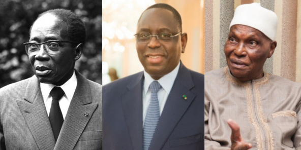 Léopold Sedar Senghor, Macky Sall et Abdoulaye Wade.