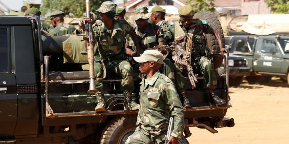 Des soldats des FARDC à Béni, le 14 décembre 2018.