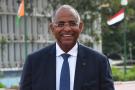 Patrick Achi, secrétaire général de la présidence ivoirienne, à Abidjan, en avril 2019