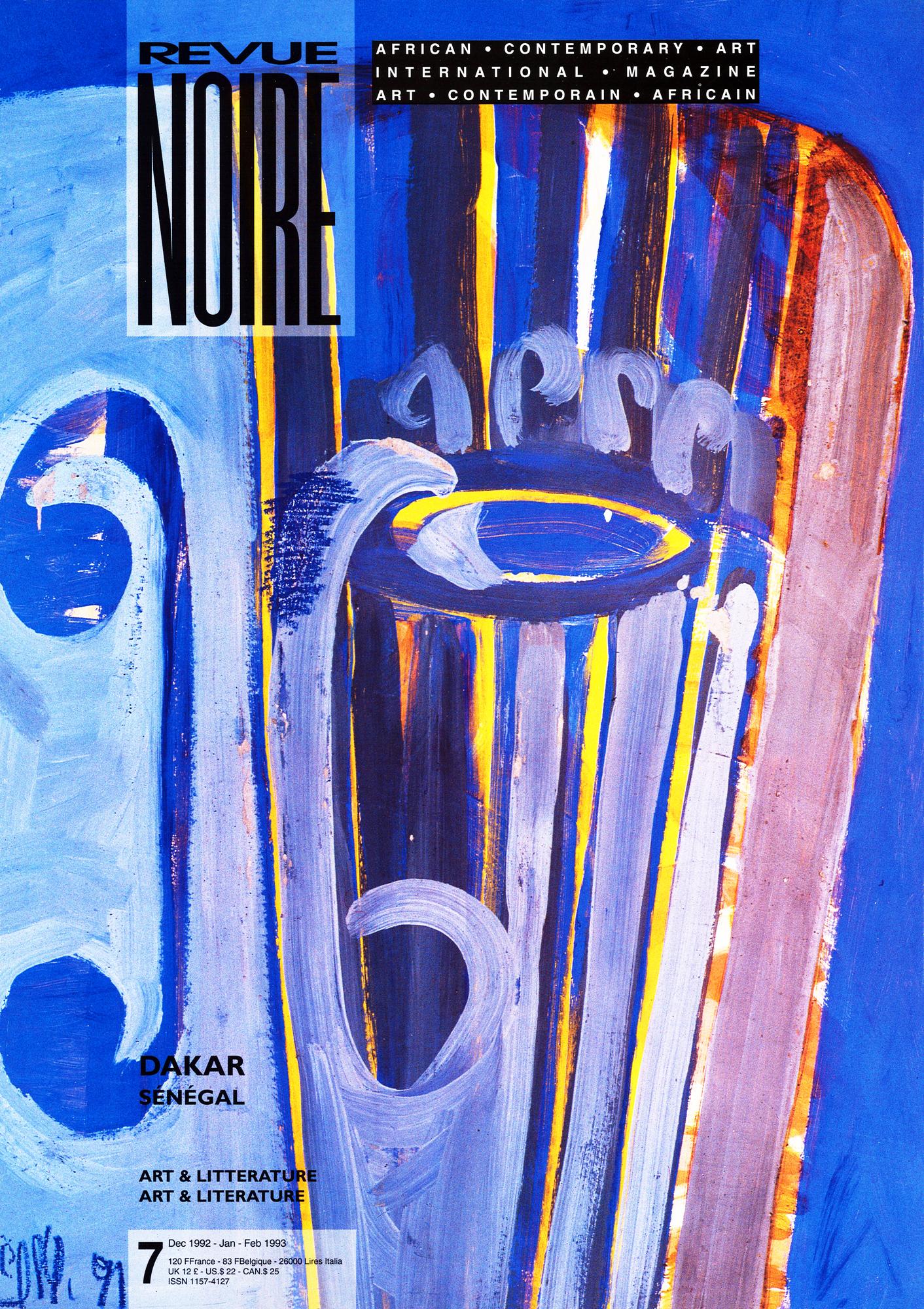 Revue Noire N°7, sous la direction de Jean Loup Pivin, publié en septembre 1992