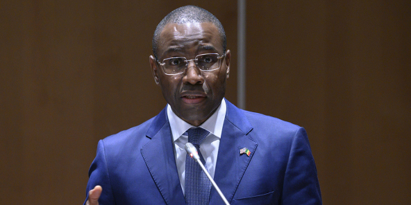 Le ministre sénégais de l'Économie, Amadou Hott, à Dakar, le 16 février 2020.