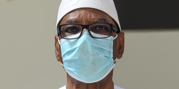 L'ex-président malien, Ibrahim Boubacar Keïta – ici en juin 2020 en Mauritanie, est rentré à Bamako le 21 octobre 2020 après près de deux mois aux Émirats arabes unis.