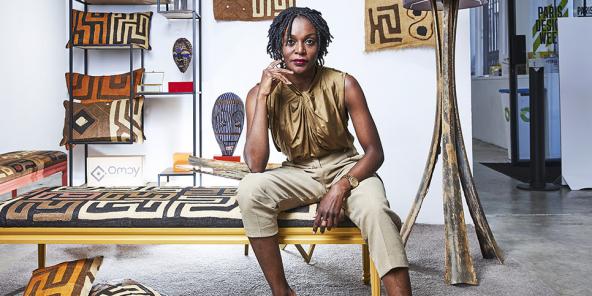 Fifi Kikangala, designer congolaise, à Paris