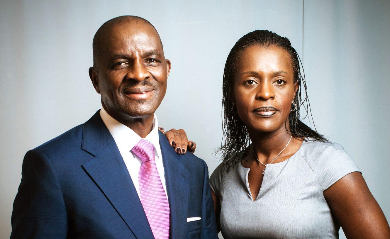 Jean Kacou Diagou et sa fille Janine Diagou,, le 24 mai 2013.
