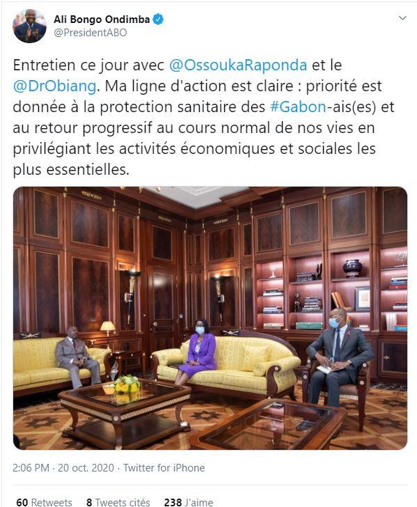 Ali Bongo Ondimba sur Twitter