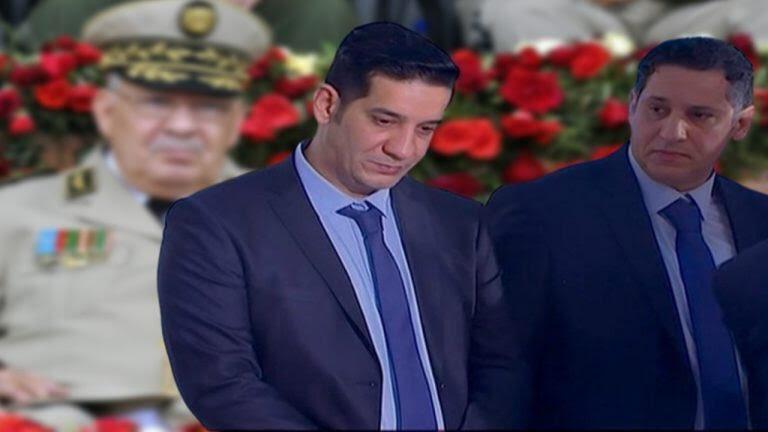 Les fils du général Gaid Salah lors de ses funérailles en décembre 2019.
