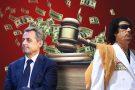 L'ex-président français Nicolas Sarkozy et le défunt Mouammar Kadhafi.