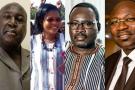 Cinq des treize candidats à la présidentielle du 22 novembre au Burkina : Ablassé Ouédraogo, Zéphirin Diabré, Yeli Monique Kam, Yacouba Isaac Zida et Eddie Komboïgo.