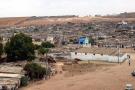 Vue d'ensemble d'un bidonville, en périphérie de Casablanca.