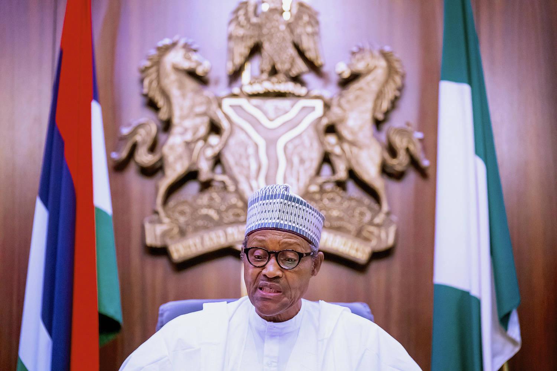 Muhammadu Buhari, lors de son discours télévisé le 22 octobre 2020.