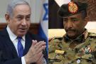 Le chef du conseil souverain soudanais al-Burhan et le Premier ministre israélien Netanyahu (à g.).